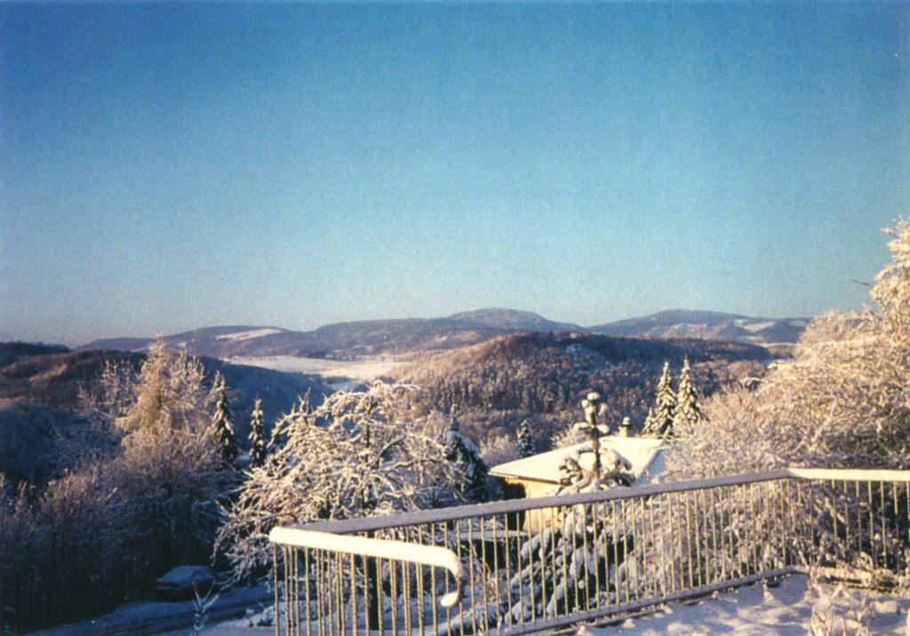 View to a foothills of the Alps from a balcony of   Barshai's house in Ramlinsburg