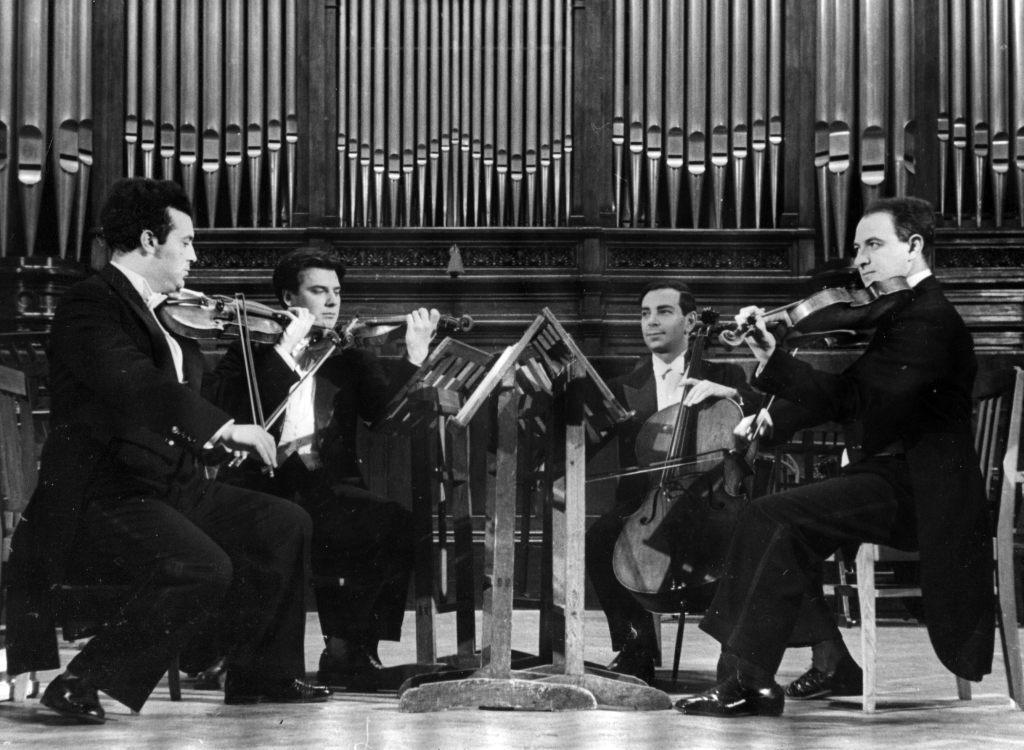 The Tchaikovsky String Quartet: Julian Sitkovetsky,  Anton Sharoev, Rudolf Barshai, Jakob Slobodkin, Grand   hall of Moscow conservatory