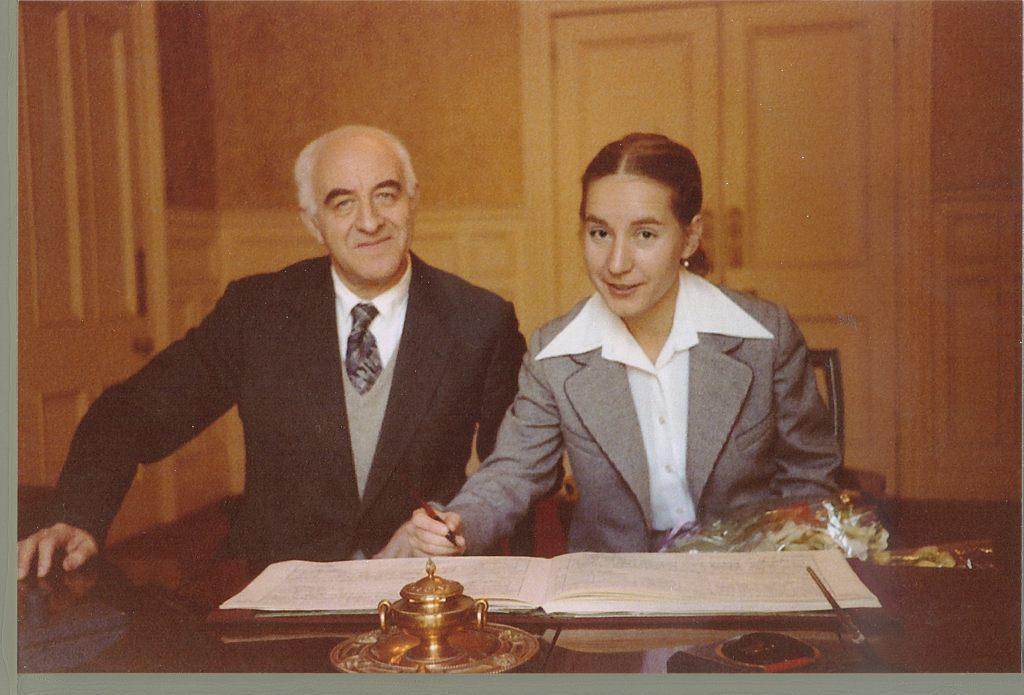 Marriage of Rudolf and Elena Barshai. South   Kensington, London, 1980