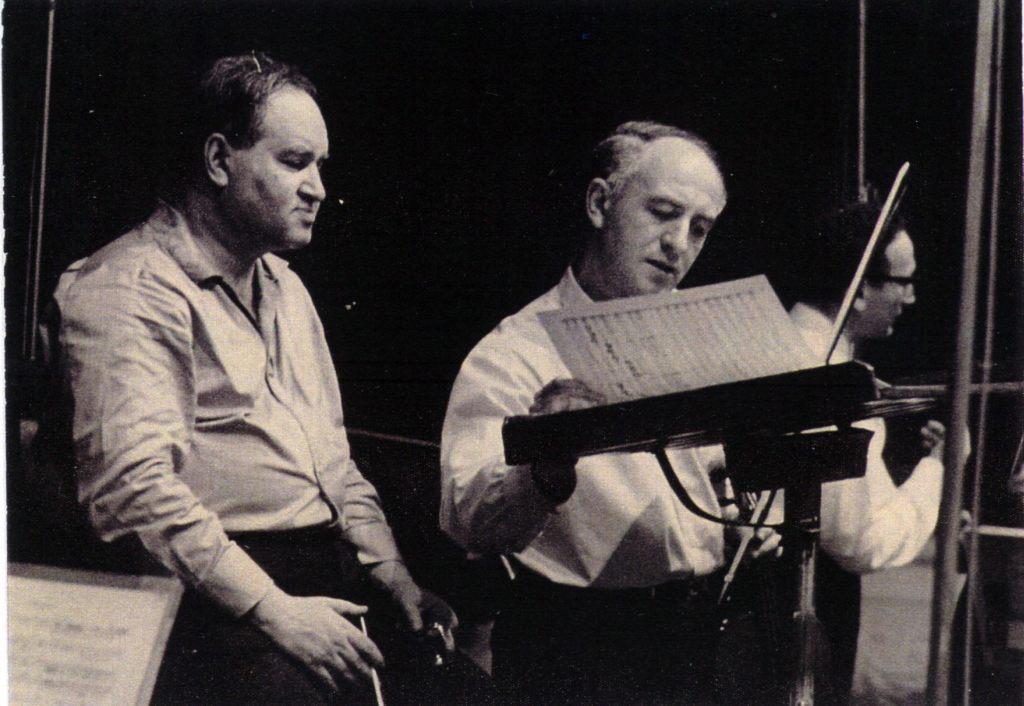 Rehearsal of the Harold in Italy by Hector Berlioz.   Soloist Rudolf Barshai, Conductor David Oistrakh. 1964