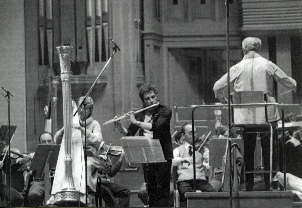 Mozart Double concerto. Soloists: Ursula Holliger   (harp), Aurèle Nicolet (Flute ). Conductor Rudolf   Barshai. Belgium, 1979