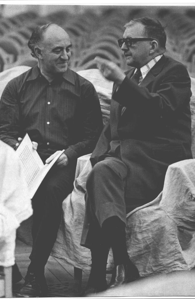Dmitri Shostakovich and Rudolf Barshai. The Grand   hall of Moscow conservatory
