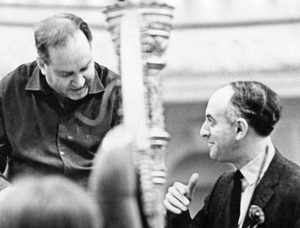 С Давидом Ойстрахом на репетиции в Большом зале   Московской консерватории