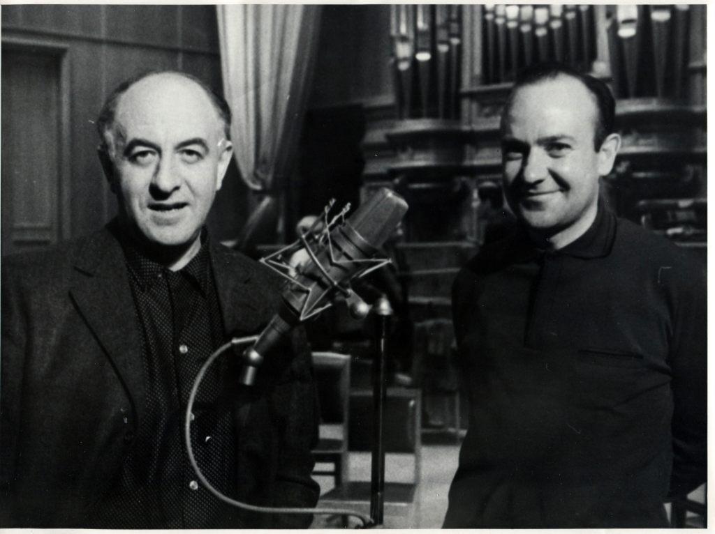 Rudolf Barshai and sound producer Igor Weprintsev